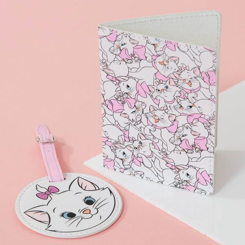 Disney Aristocats Marie Pink Passport Holder and Luggage Tag Gift